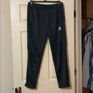 Adidas tapered joggers zip